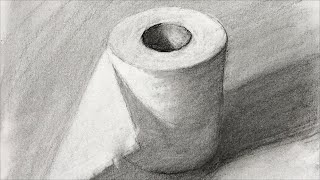 Still Life #72 - How to see and draw shapes in a charcoal drawing