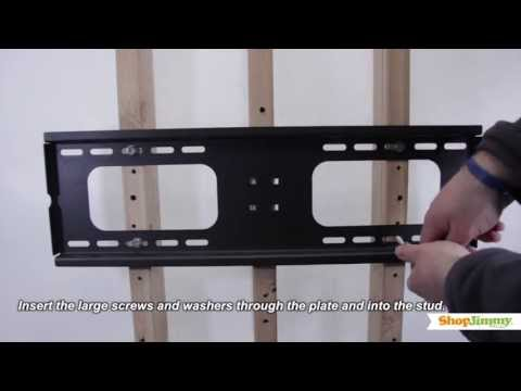 TV Repair Tutorial - How to Install a TV Wall Mount - Universal Wall Mount for LCD/LED/Plasma TVs