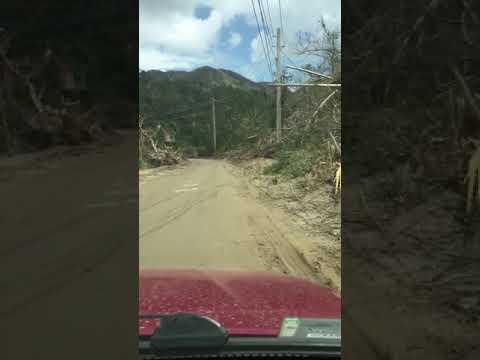 Huracán Maria, jayuya puente Josefina Leon zayas