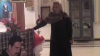 هدى البصري في تكريت عند قبر الشهيد صدام حسين    2012