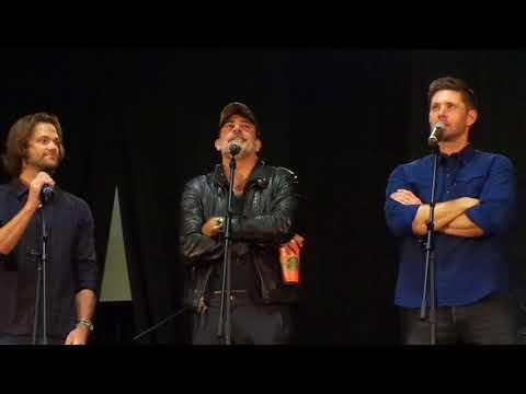Gold Panel PT 2 Jensen Ackles, Jared Padalecki, Jeffrey Dean Morgan NJ Con 2017