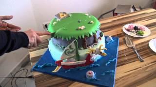 Geburtstagstorte im Zelda The Wind Waker Style