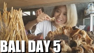 1 Day in Indonesia. Bali Travel: Balinese Local Food & KUTA BEACH VLOG