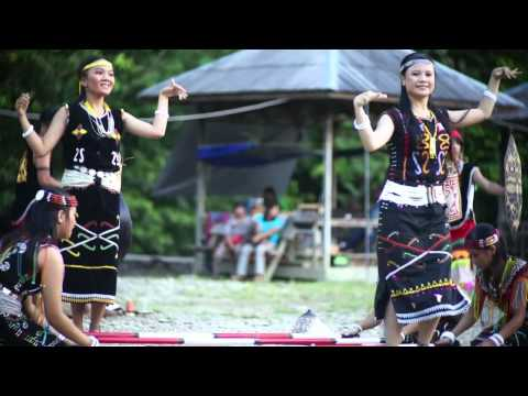 Dayak's Dance in Malinau, North Borneo