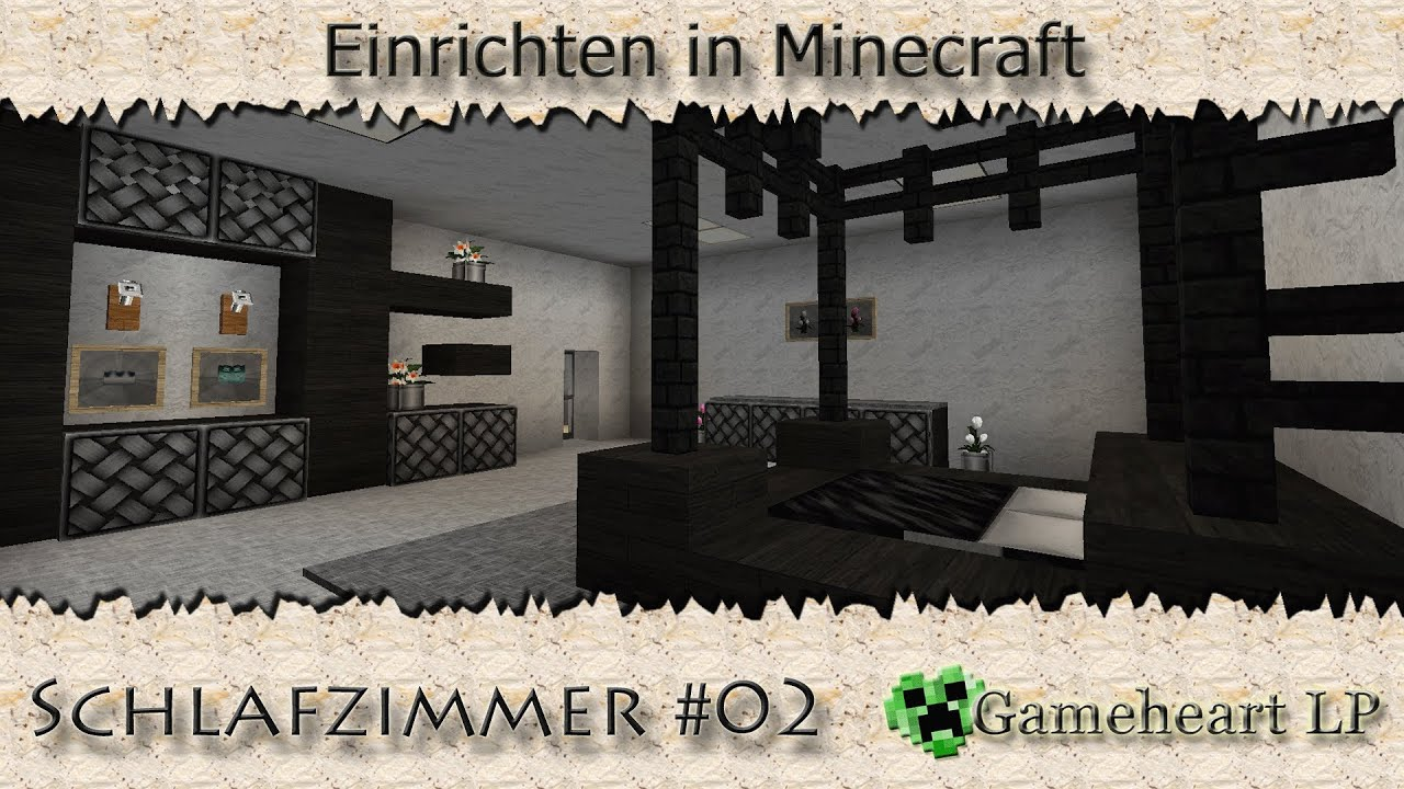 minecraft schlafzimmer mit himmelbett einrichten in. Black Bedroom Furniture Sets. Home Design Ideas