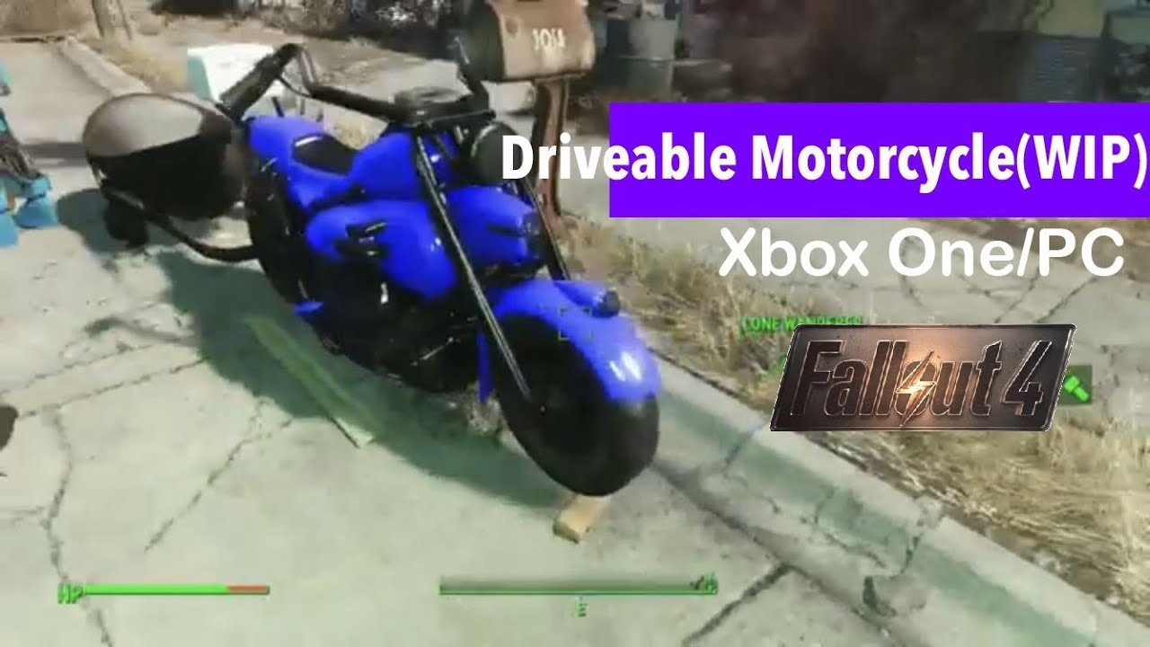 Fallout 4 Xbox One/PC Mods|Driveable Motorcycle(WIP)