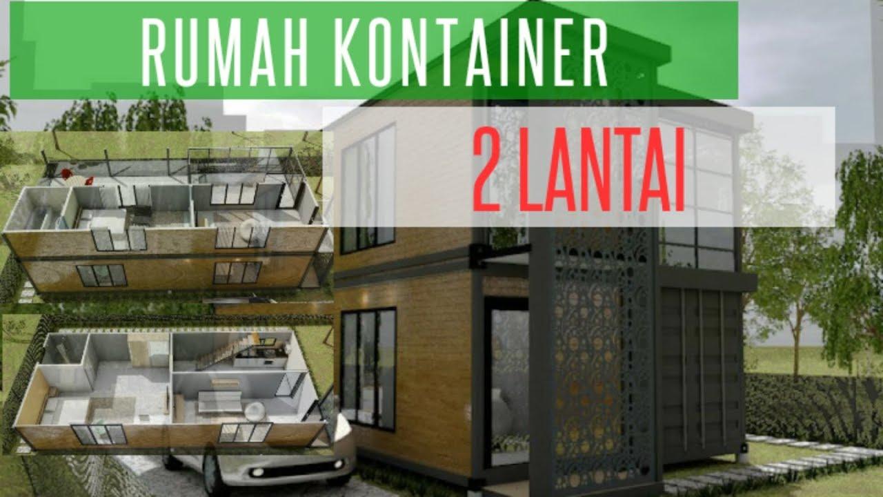 Rumah Kontainer 2 Lantai Minimalis Ekonomis Praktis Youtube