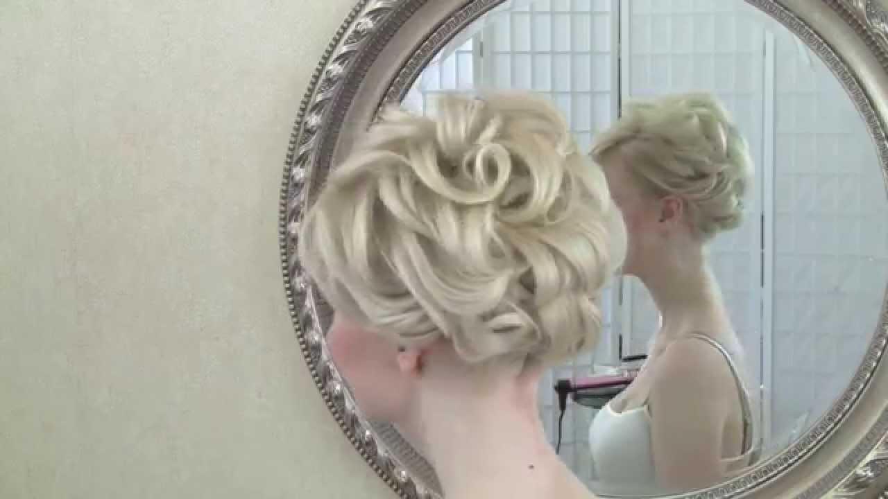 Wedding hairstyling video - short hair updo - YouTube