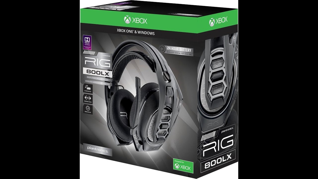 Plantronics Rig 800LX Xbox One and Pc Atmos Gaming Headset Review