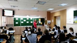 Видео фрагмент  урока эрзянского языка Обуховой О  И