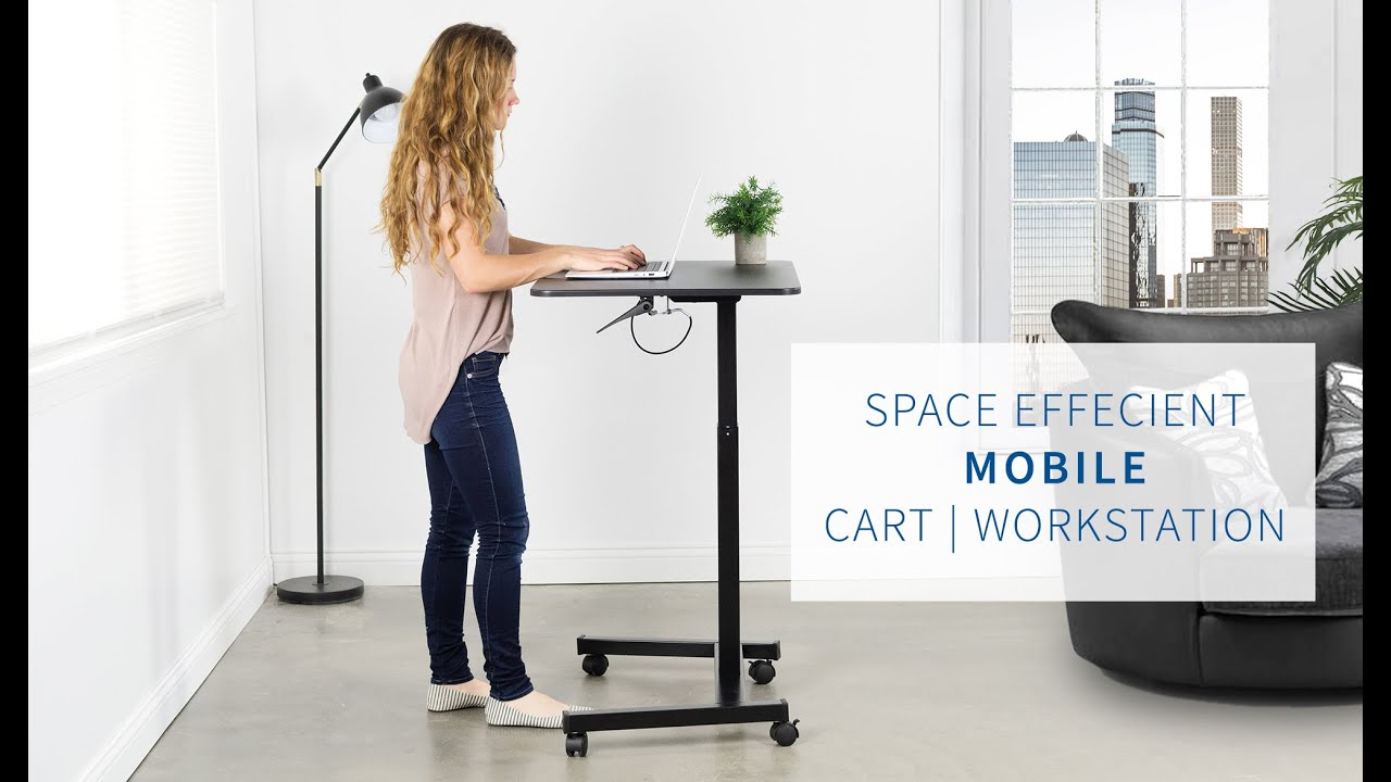 Cart V07b 32 Pneumatic Sit To Stand Mobile Workstation By Vivo Youtube