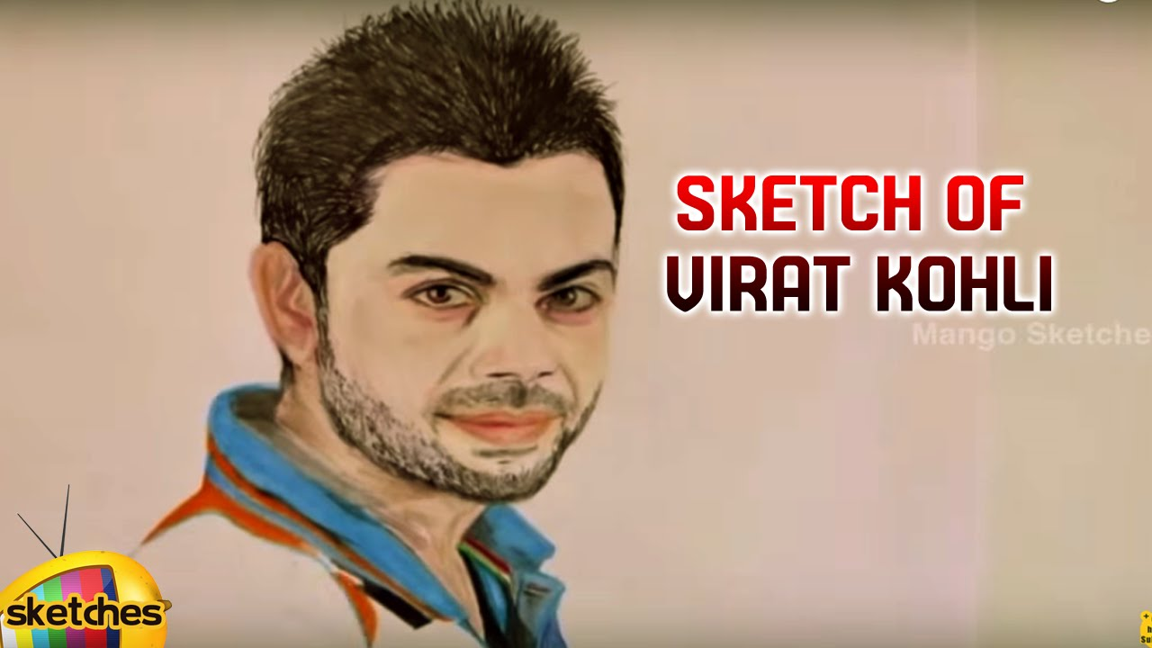Sketch of virat kohli mango sketches by mango sketches