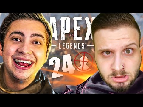 24 KILLS! ESSE JOGO É INCRÍVEL! | Apex Legends ft.Alanzoka