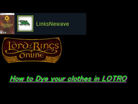 How to dye your clothes in LOTRO