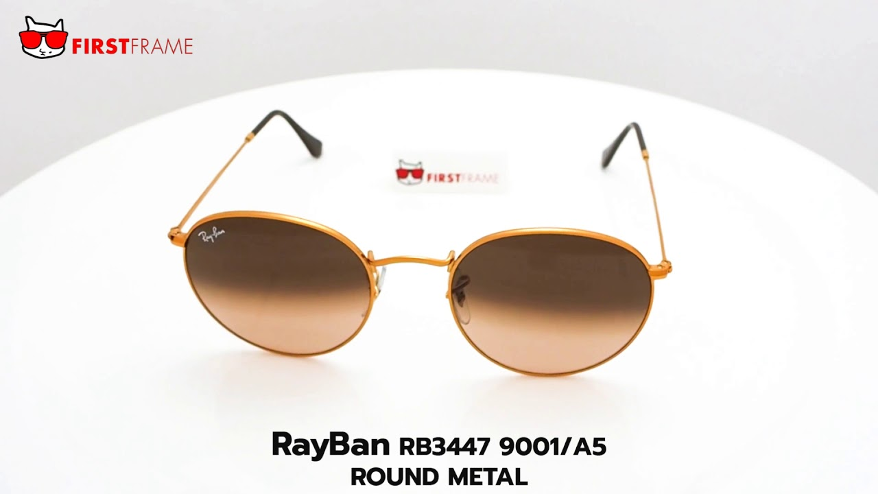 26ef6c92ce RayBan RB3447 9001 A5 ROUND METAL - YouTube