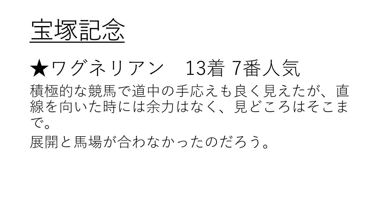 宝塚記念 回顧