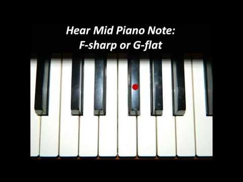 Hear Piano Note - Mid F Sharp or G Flat