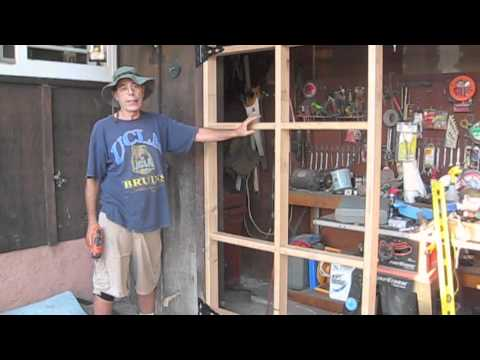 How to build a swing out garage door youtube how to build a swing out garage door solutioingenieria Gallery