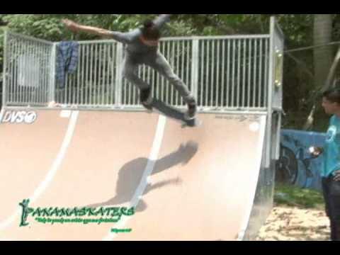 Skateboarding Panama exhibition