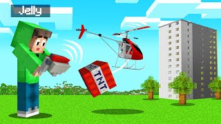 RC HELICOPTER + TNT = EPIC! (Minecraft)