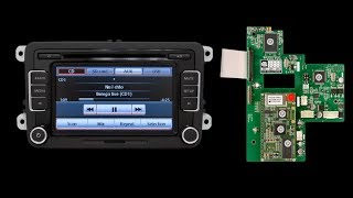 Navigation for Volkswagen. GPS Module Connection to RCD510 Monitor.