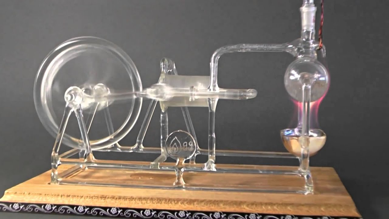 Working Model of Stephenson s STEAM ENGINE made of GLASS Rare