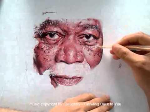 Morgan Freeman Ballpen Portrait excerpt - 1.75 hrs