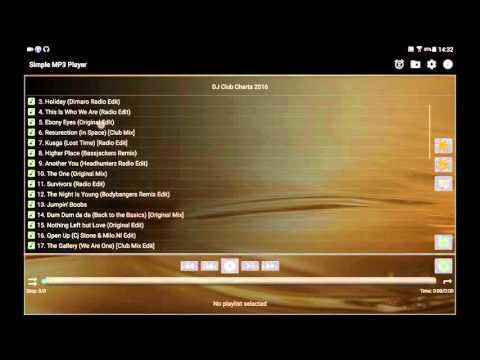 Android App Simple MP3 Player V2.1 En Tablet
