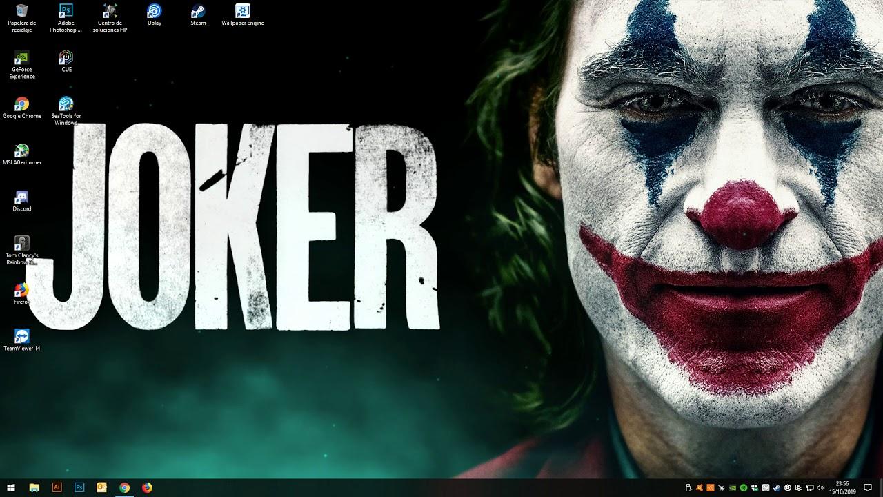 Wallpaper Engine Joker 2019 4k Youtube