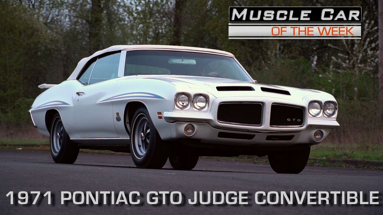 1 of 17 1971 Pontiac GTO Judge Convertible Muscle Car Of The Week ...