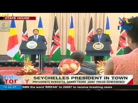 Seychelle President holds joint address with President Uhuru