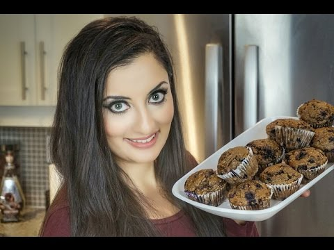 The BEST Whole Wheat Blueberry Muffins! | Recipe | Amin Dhillon