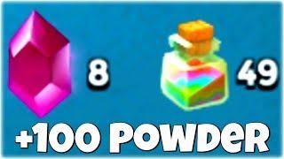 How to Gain 100+ Power Powders before MEGA CRAB...