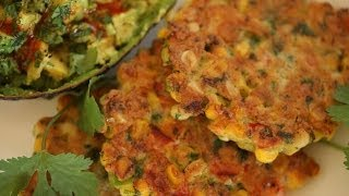Liesl's Corn Fritters With Smashed Avocados