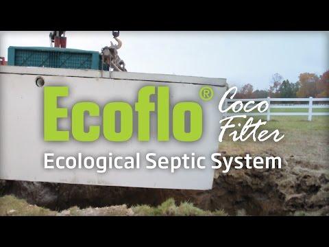 Ecoflo Coco Filter - Installation of a Concrete Model