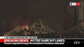 بث مباشر.. كاتدرائية نوتردام تحترق.. النيران تلتهم 900 عام في 5 دقائق
