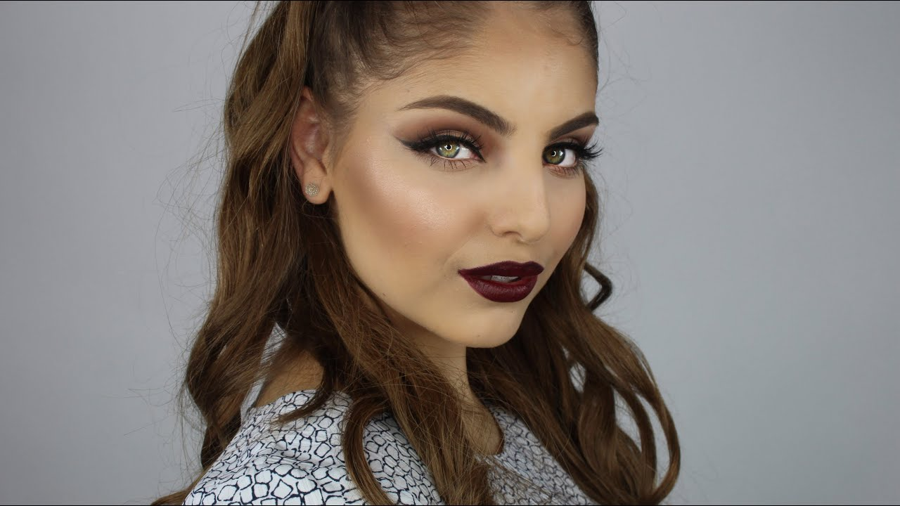 Fall Makeup Look + Plum Lips - YouTube