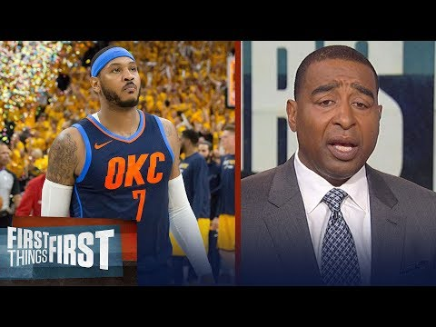 Nick Wight and Cris Carter on Carmelo's future with the Thunder   NBA   FIRST THINGS FIRST