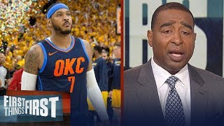 Nick Wight and Cris Carter on Carmelo's future with the Thunder | NBA | FIRST THINGS FIRST
