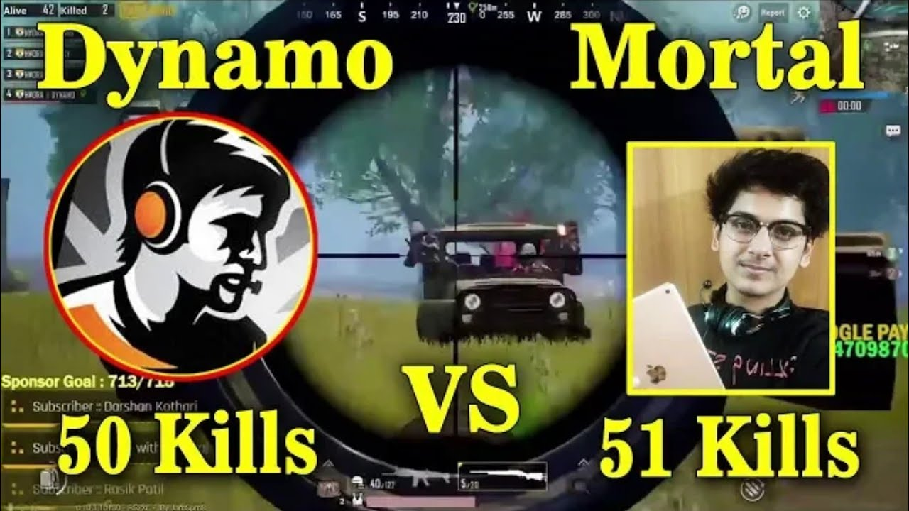 HYDRA DYNAMO SQUAD VS SOUL MORTAL SQUAD HIGHEST KILLS IN PUBG MOBILE