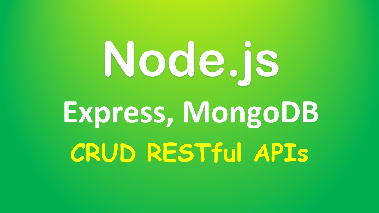Node.js, Express & MongoDb: Build a CRUD Rest Api example