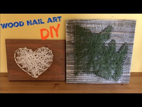Wood Nail Art   DIY