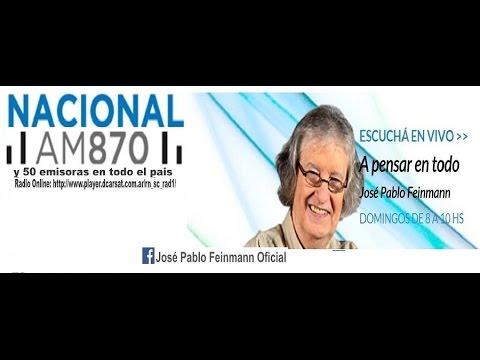 José Pablo Feinmann en Radio Nacional Domingos 08 a 10hs