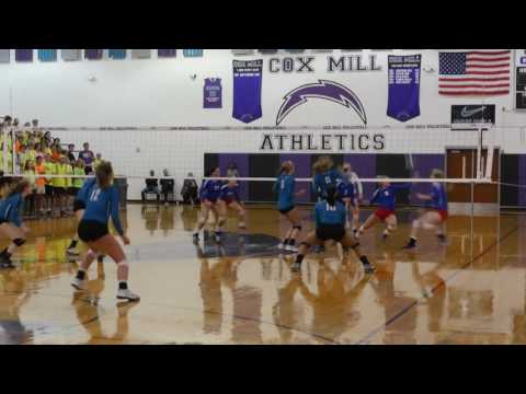 3A State Semifinal Match - Cox Mill v. West Henderson HS Volleyball