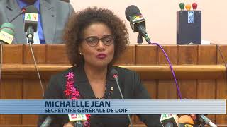 Francophonie : Michaëlle Jean s'adresse aux députés du Bénin