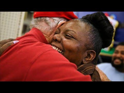 Secret Santa pays a visit to Harvey-ravaged Texas
