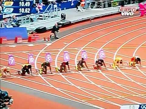 carrera 100 mts planos femenino juegos olímpicos Londres 2012