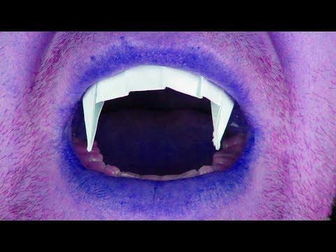 Как сделать ЗУБЫ ВАМПИРА из бумаги. Teeth of paper. Colmillos De Vampiro. Origami.