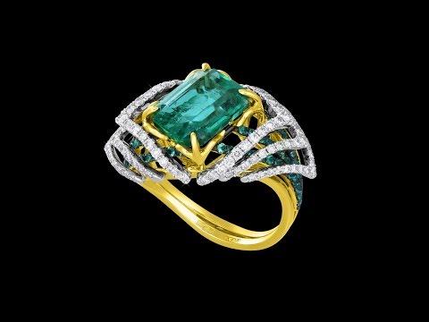 Ювелирные украшения с изумрудами и бриллиантами - Интернет магазин Kr8tiv.RU