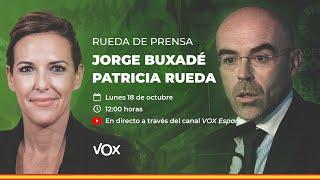 🔴 DIRECTO   Rueda de prensa de Jorge Buxadé y Patricia Rueda.